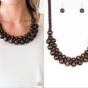 Wooden Necklace Set - Fashion Accessories
